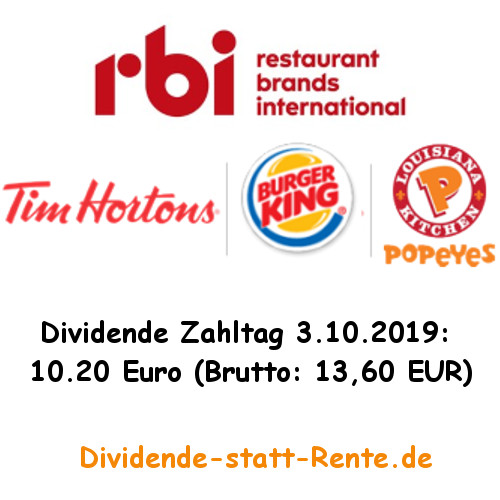 Restaurant Brands International Dividende